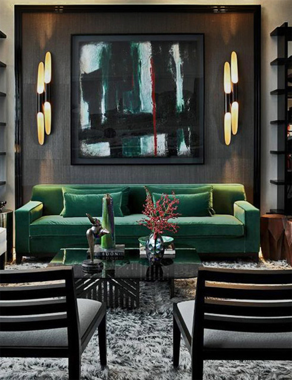 DelightFULL-Living-roomDark-Romantic-Green-and-Black-1774262 Inspired By Nature: How to Add Green to Your Home