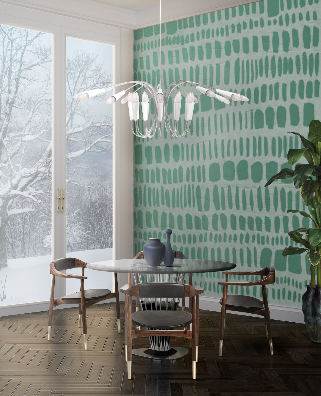 DelightFULL-Winter-Dining-RoomSoft-green-and-white-lamp-1783518-1440x1776 Inspired By Nature: How to Add Green to Your Home