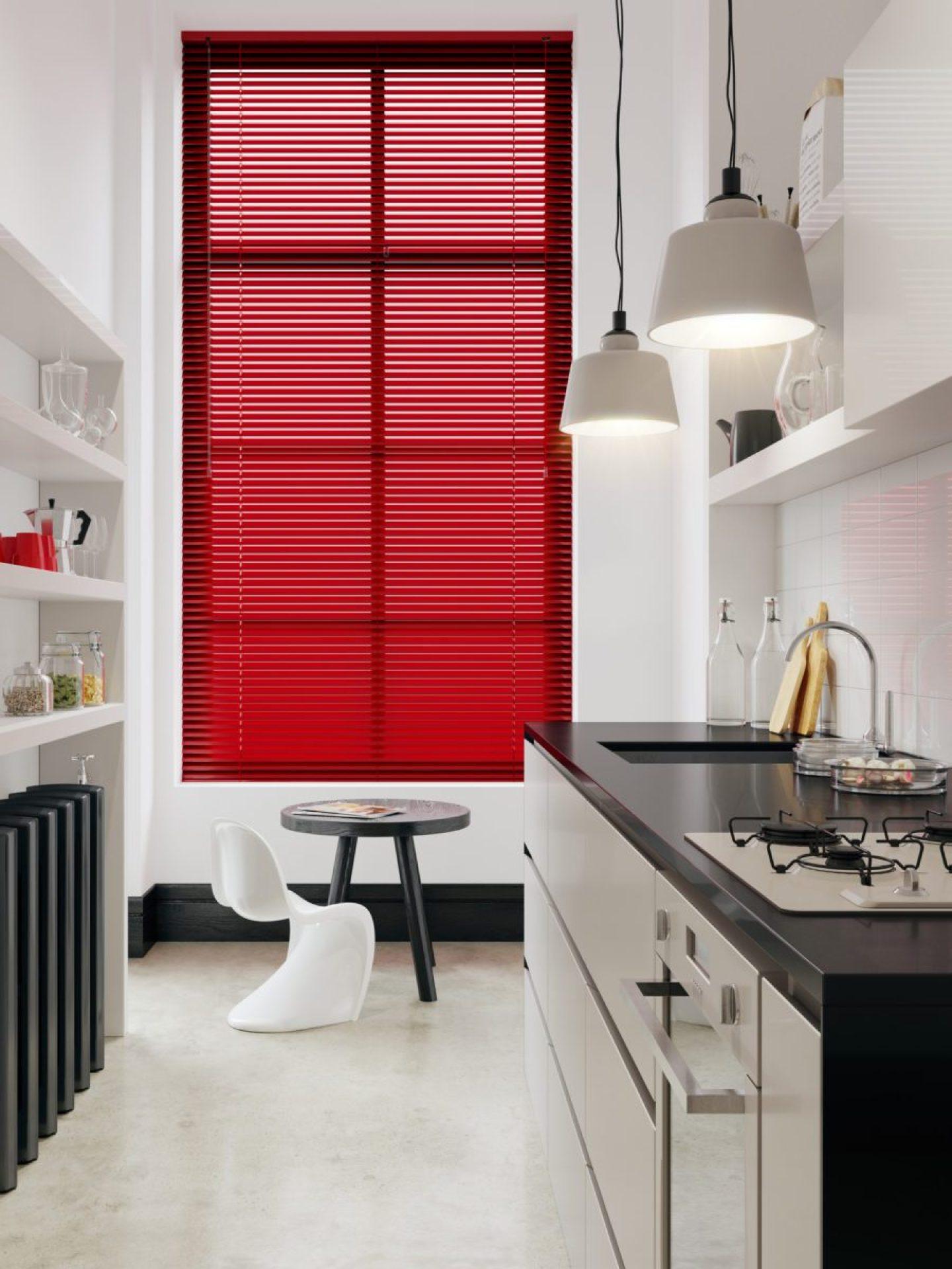 Kitchen-Venetian-Blinds.-Luxurious-Red-Aluminium-Blinds.-1-1440x1918 DST Home Decor Inspiration: Crimson and Cream Design Style