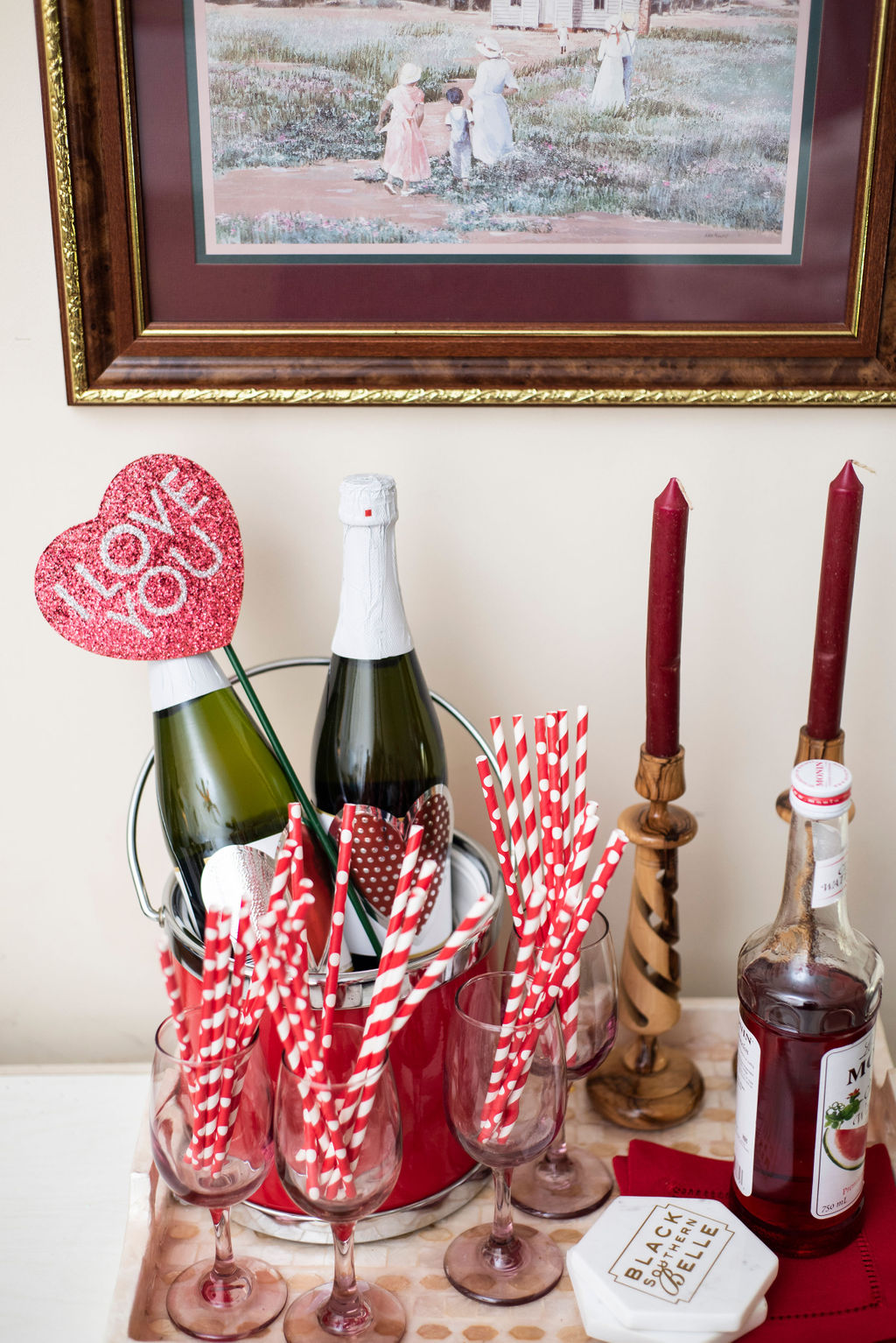 DSC_0505cq-1 Drink Inspiration: Valentine's Day Drink Tray Decor
