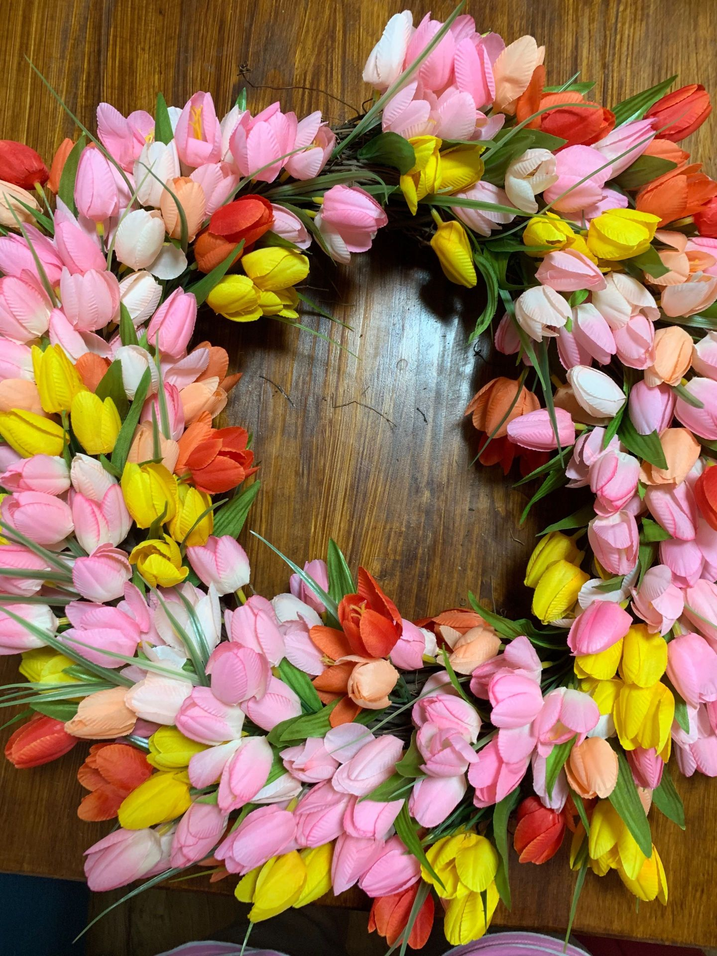 tulips7-2 Tulip Wreath DIY Tutorial: How to Add a Dash of Spring to Your Front Door