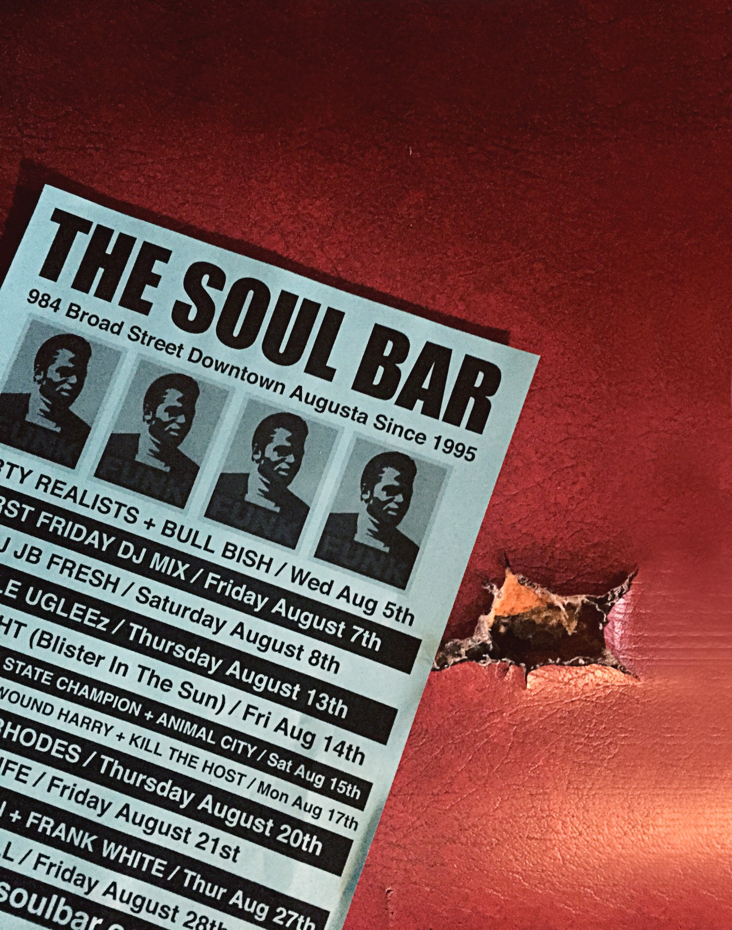 """Soul-Bar-Menu-1440x1829 """"Get on the Good Foot"""" in Augusta, GA. – Celebration of James Brown's Birthday (May 3rd)"""