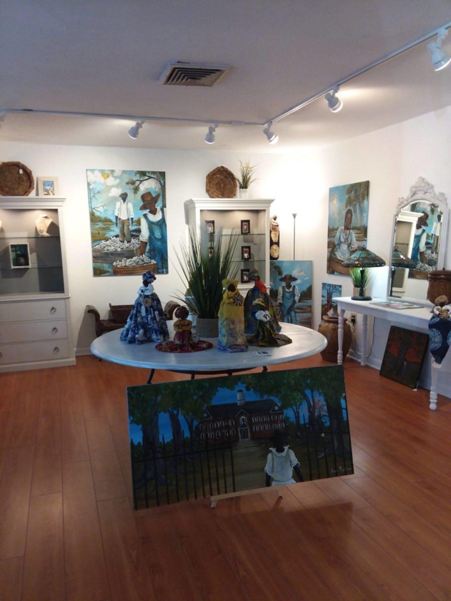 57504532_10215841320120777_1093150386073632768_o-1440x1920 International Cultural Gullah Artist Sonja Griffin Evans Unveils Newest Art Studio