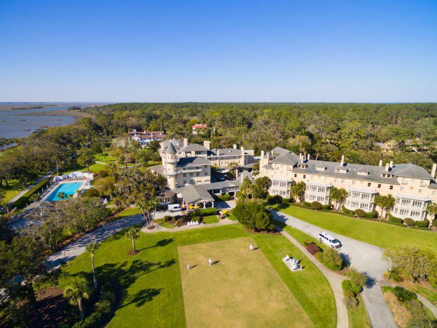 JIC-Aerial-1-4 Southern Travel Destination: Jekyll Island Club Resort