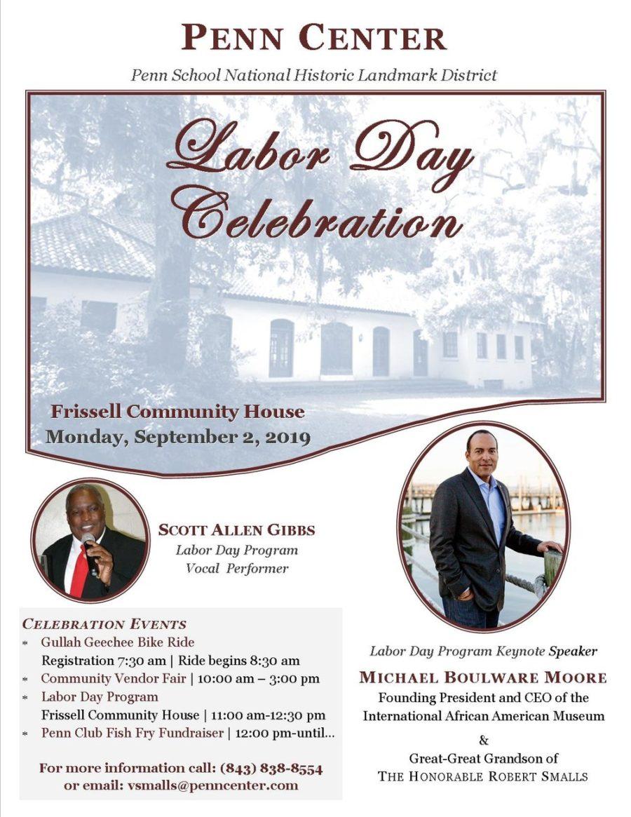 LaborDayFlier Black Heritage Travel: Penn Center Labor Day Celebration on the South Carolina Sea Islands