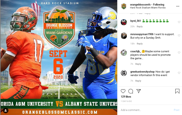 Screenshot-2020-03-03-at-3.51.26-PM HBCU Football Heritage: Orange Blossom Classic Returns in 2020; Features FAMU & Albany State