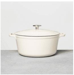 5qt Cast Iron Casserole Dish Cream – Hearth & Hand with Magnolia, White