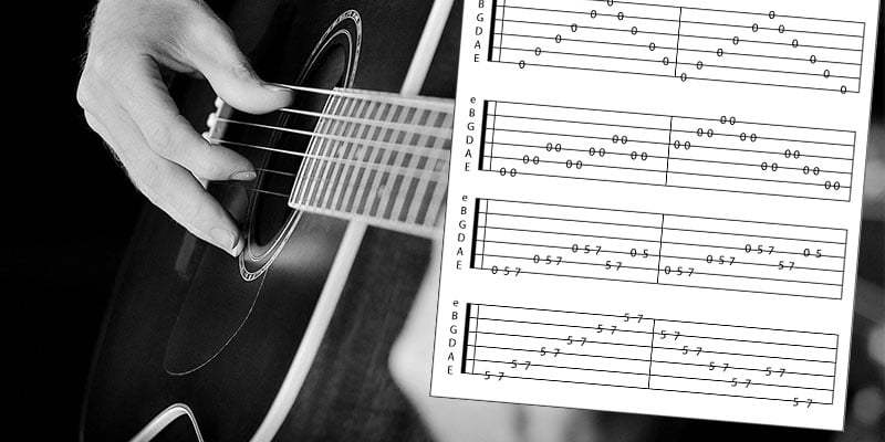 acoustic-guitar-tablature-easy-songs