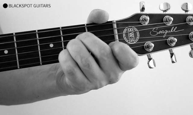 A Major 3 Guitar Chord Finger Position