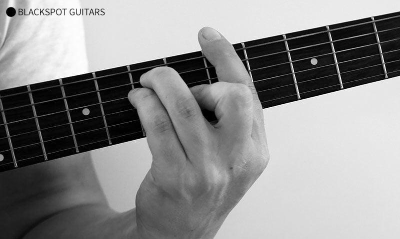 A Major Barre 2 Guitar Chord Finger Position