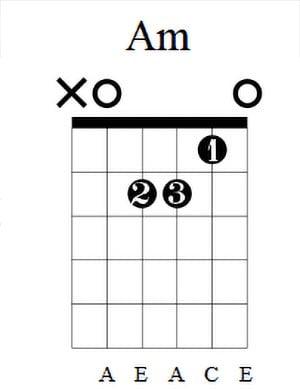 Am Guitar Chord 5