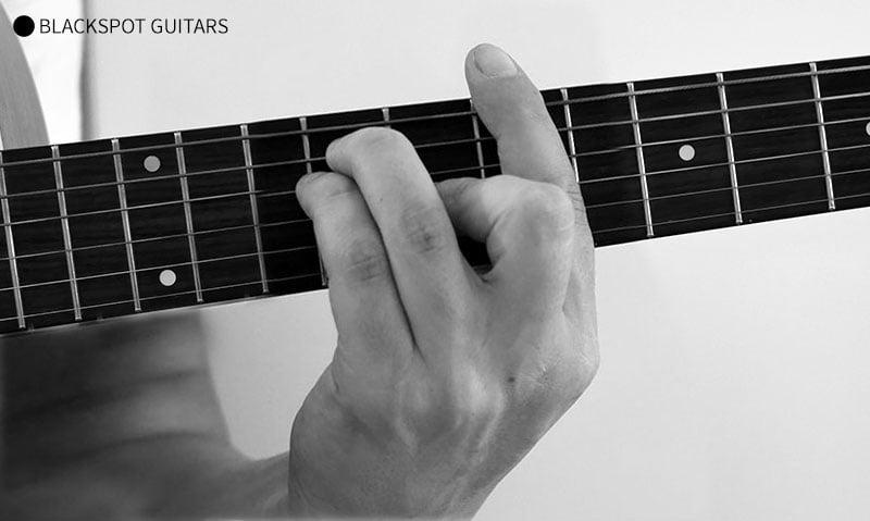 B Major Barre 2 Guitar Chord Finger Position
