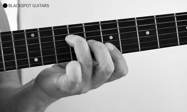 B Major Barre Guitar Chord Finger Position
