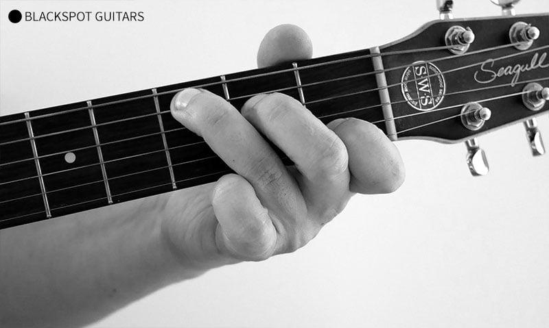 C Major 5 Guitar Chord Finger Position