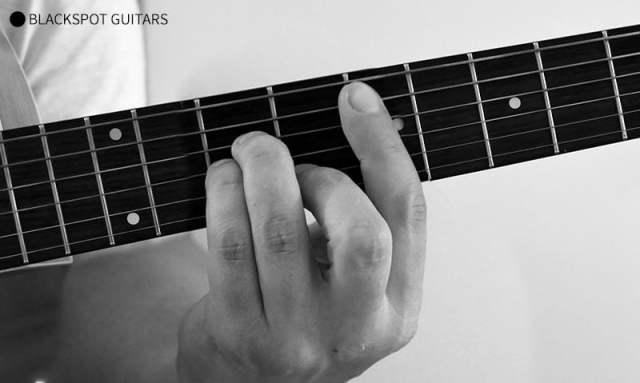 E Minor Barre 2 Guitar Chord Finger Position