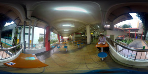 Singapore hawker center in 360 VR