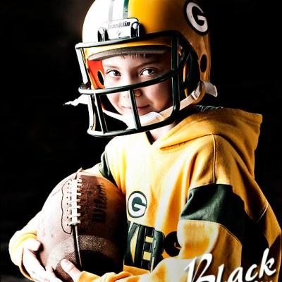 Go Garrett! Go Packers! Montrose South Dakota Children's Photography
