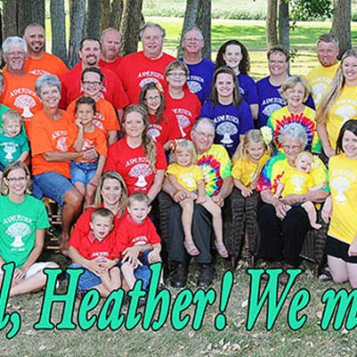 Asmussen Family Reunion – We miss you Heather!