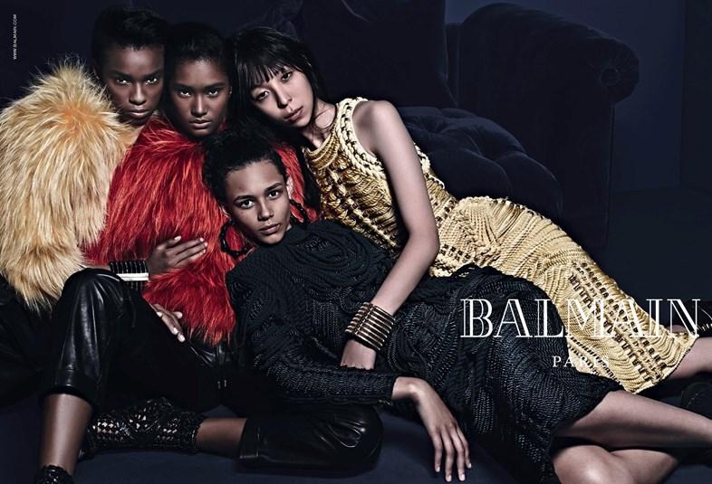 Balmain Collection Models Jourdan Dunn & Ysaunny Brito