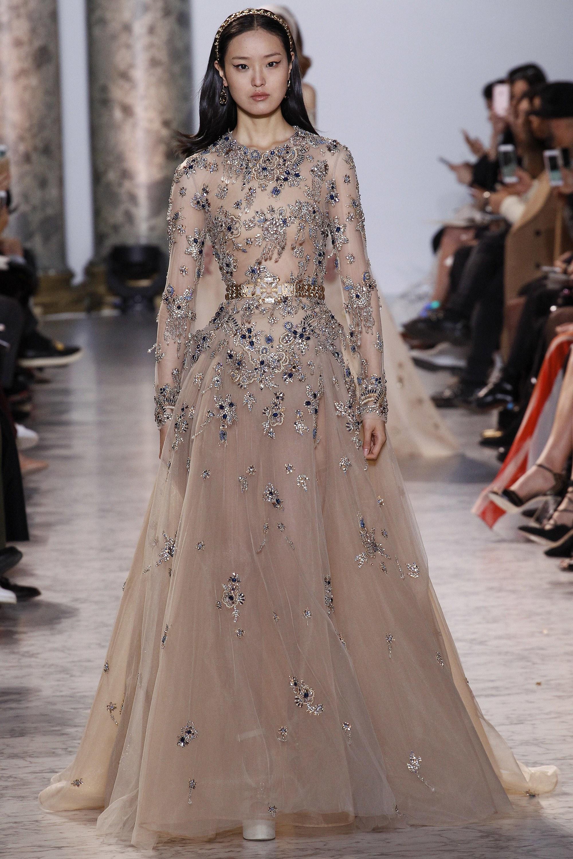 Asian Model in Elie Saab Gown
