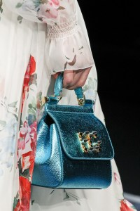 Blue purse at Dolce & Gabbana