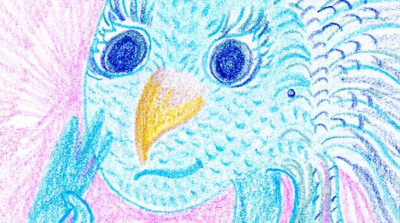 Black Swan Sibyl ~ Channeled Spirit Drawings ~ Blue Avian