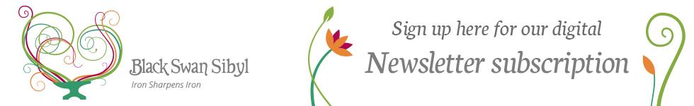 black swan sibyl newsletter button