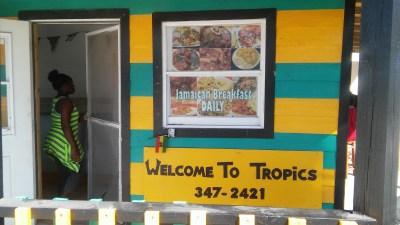 Tropics restaurant in Alice Town, Bimini Bahamas