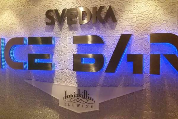 Svedka Ice Bar on board the Norwegian Getaway