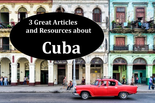 Classic Car in Havana Cuba, 3 great articles about Cuba