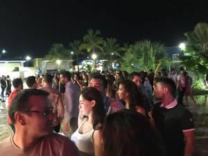 Crowd outside CoCo Bongo