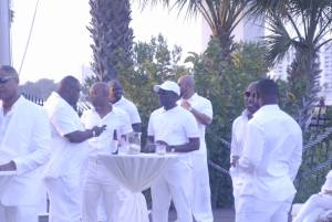 Men at All White Party