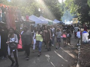 Vendors at the Atlanta Jazz Festival