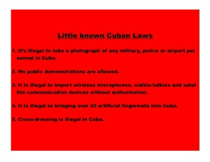 Little known Cuban laws