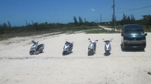Scooters at Crystal Beach