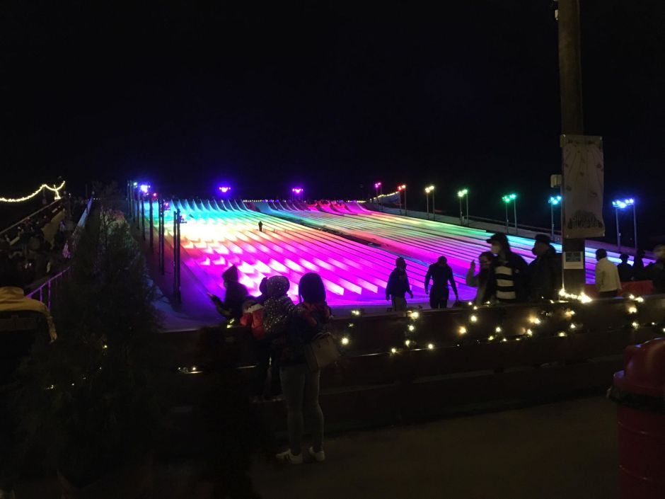 Evening light show at Snowcat Ridge