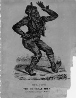 "Drawing of ""'Jumpin' Jim Crow,"" the blackface character developed by Thomas Danforth Rice."