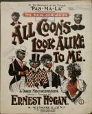 Poster for one of the Black blackface performers, Ernest Hogan.