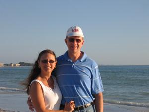 On the beach at Sarasota