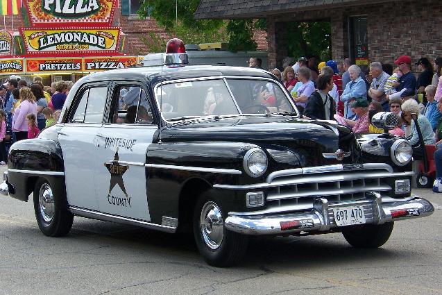 Restored 1950 Sheriff's Squad Car was a big hit.