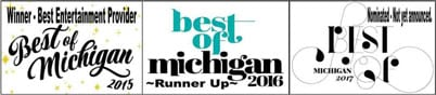 Black Tie Productions won Best Entertainment Provider of Michigan 2015 -2017