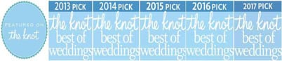 Black Tie Productions won The Knot Best of Weddings award from 2013-1017
