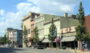 Danville Kentucky Downtown Buildings on Main Street