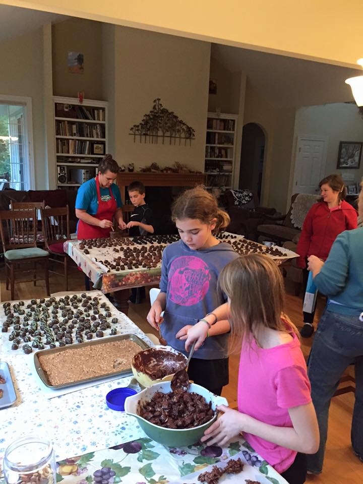 After Thanksgiving Candy-making