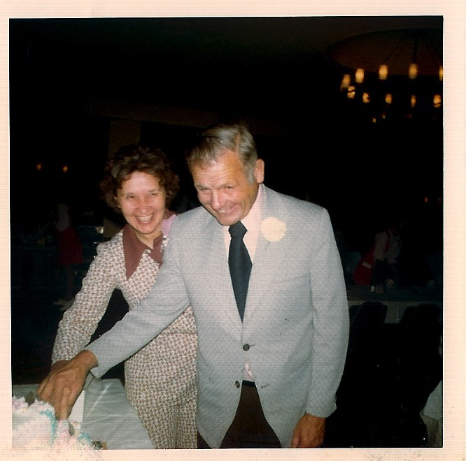 Mom and Dad on their 25 Wedding Anniversary.  Newlywed love that lasted a life-time.