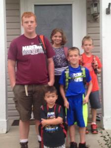 grandkids 1st day of school