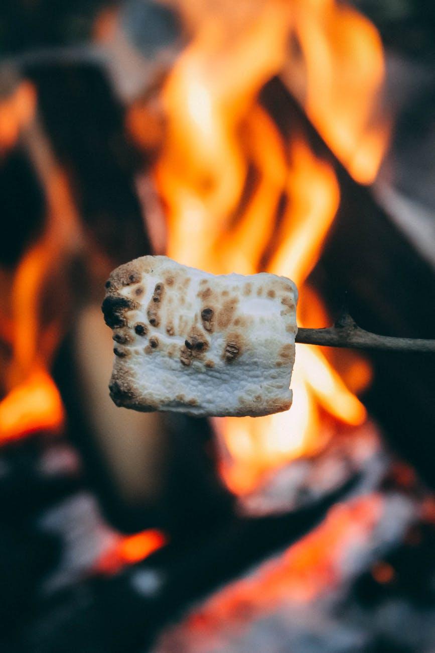 close up shot of a marshmallow