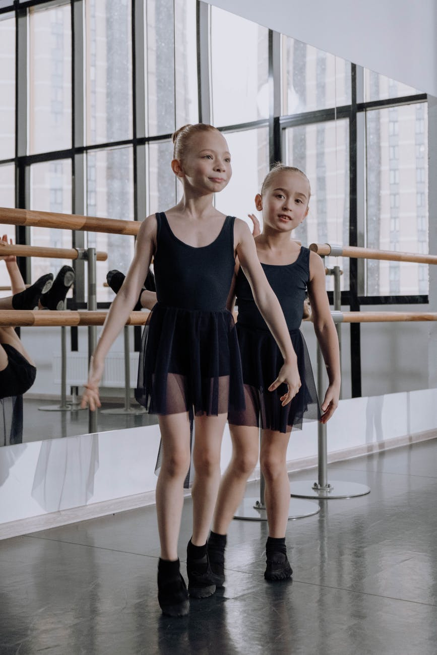girls in a dance studio