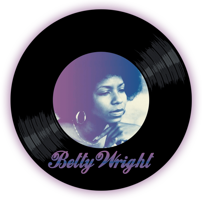Black to the Music - Betty wright - logo header