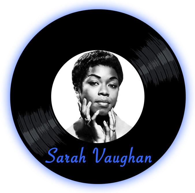 Black to the Music - Sarah Vaughan - logo header